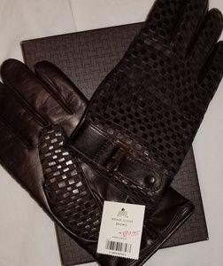 Cole Hann  m weave glove brown